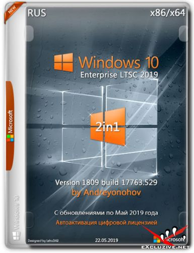 Windows 10 Enterprise LTSC x86/x64 17763.529 2in1 by Andreyonohov (RUS/2019)