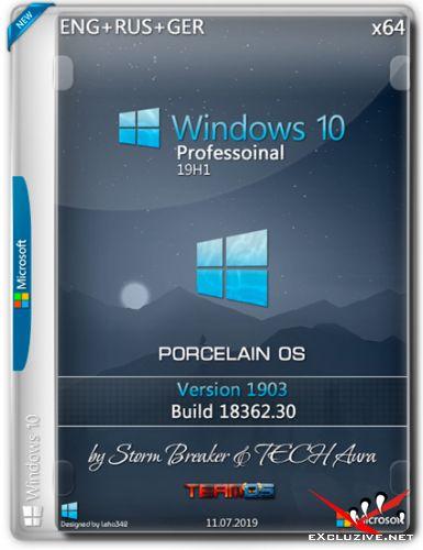 Windows 10 Pro x64 Porcelain OS by SB & Aura (ENG+RUS+GER/2019)