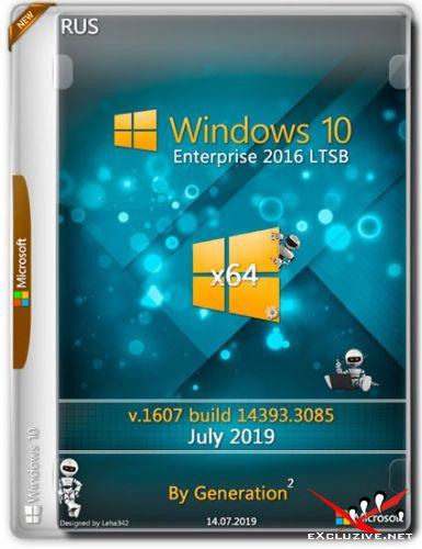 Windows 10 Enterprise LTSB x64 14393.3085 July 2019 by Generation2 (RUS)