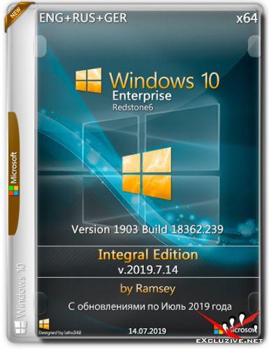 Windows 10 Enterprise x64 1903 Integral Edition v.2019.7.14 (ENG+RUS+GER)