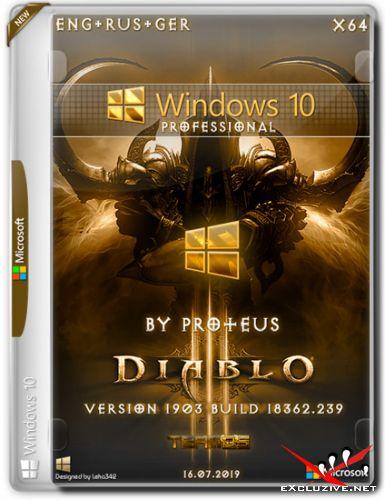 Windows 10 Pro x64 1903 Diablo by Proteus (ENG+RUS+GER/2019)