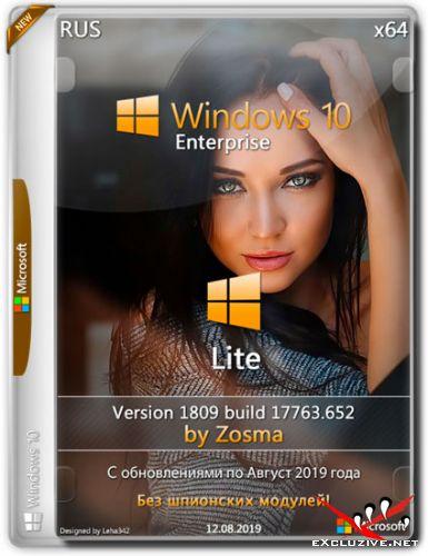 Windows 10 Enterprise x64 Lite 1809.17763.652 by Zosma (RUS/2019)